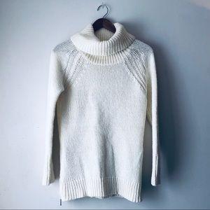 Ruby Moon Cream Wool Turtleneck Sweater (XS)